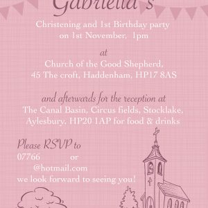 Christening Invitation Haddenham